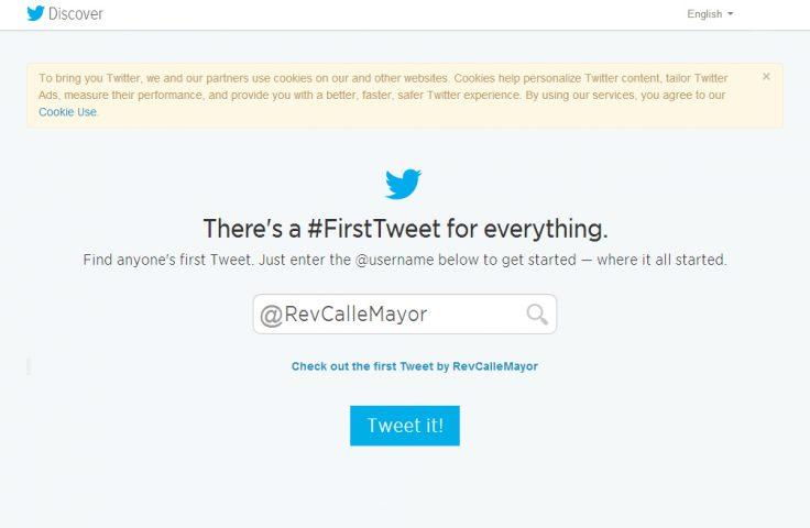 ¿Quieres saber cuál fue tu primera publicación en Twitter?