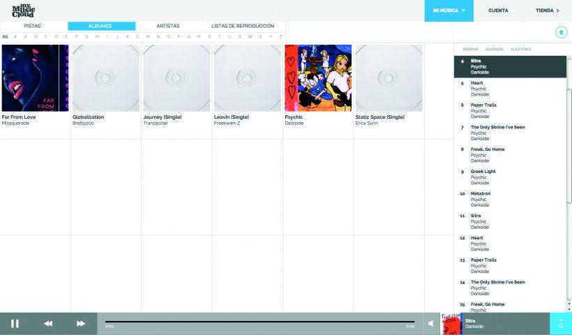 My Music Cloud, música en las nubes para reproducirla desde cualquier dispositivo, estés online u offline