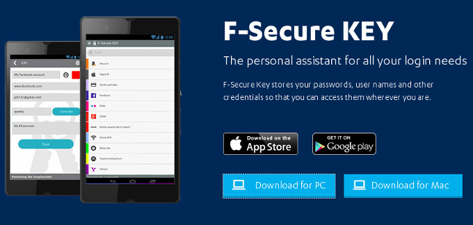 F-Secure, para no olvidarte nunca de tus contraseñas
