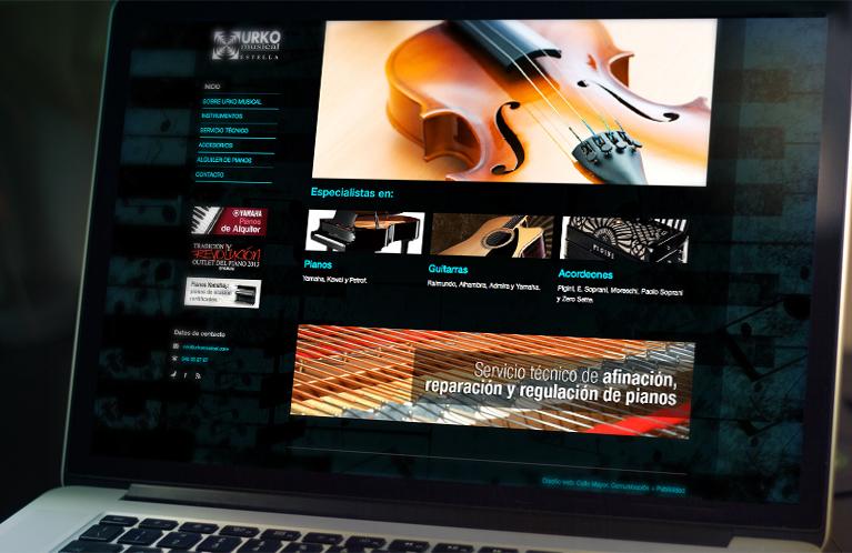Urko Musical. Desarrollo Web. Calle Mayor Comunicación y Publicidad
