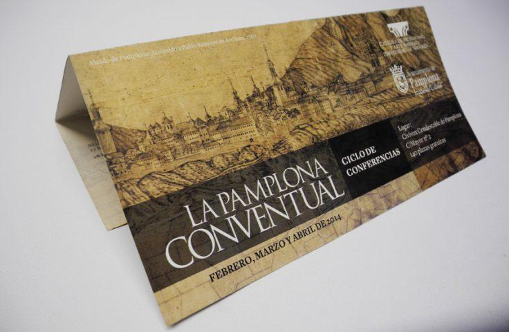 Calle Mayor edita el folleto del ciclo de conferencias 'La Pamplona conventual'