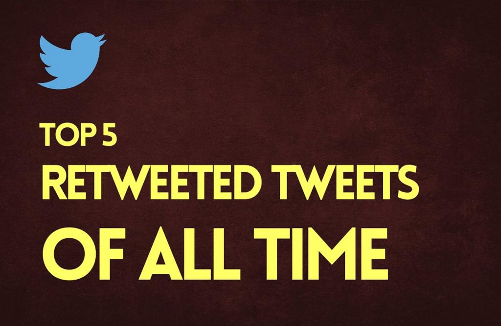 Los 5 tuits más retuiteados de todos los tiempos