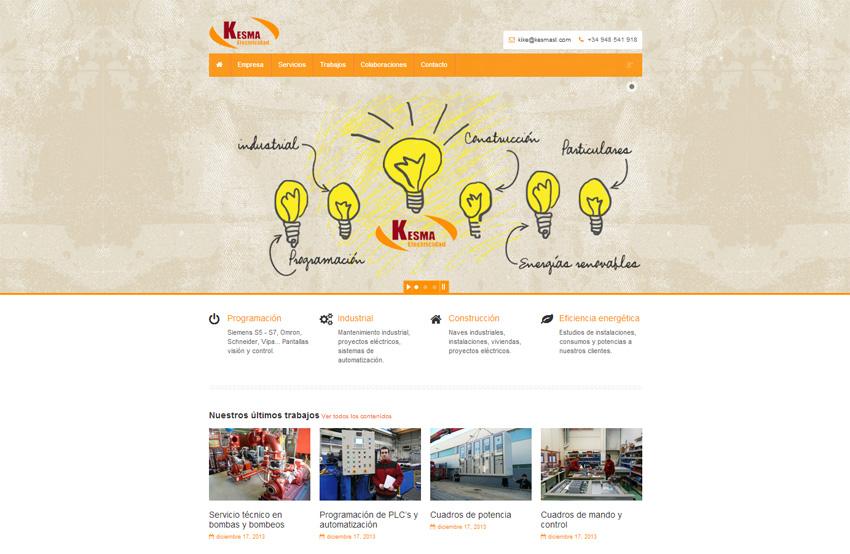 Electricidad Kesma moderniza su web