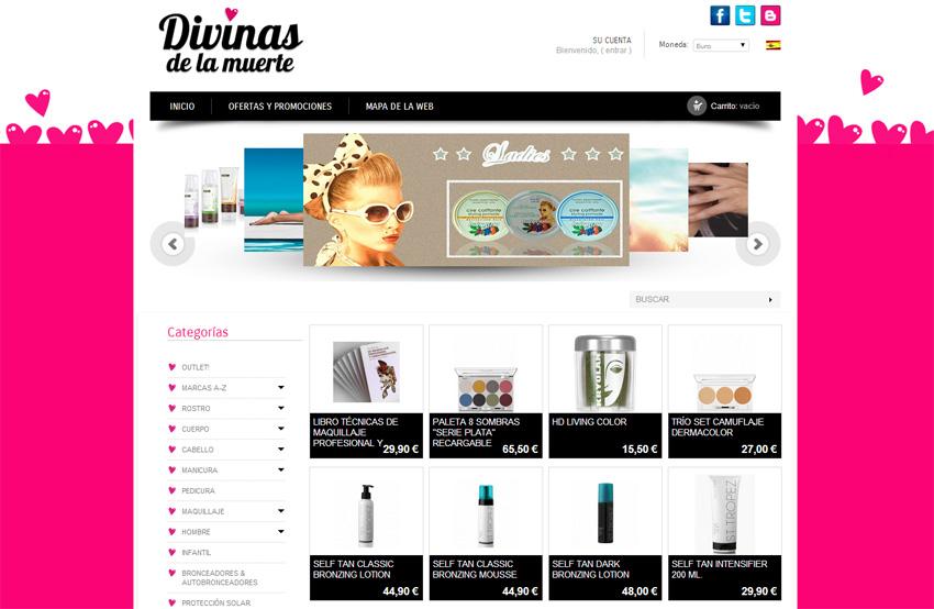 Desarrollo de tienda online para Divinas de la Muerte
