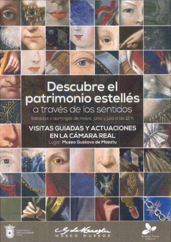 Calle Mayor realiza el cartel del programa 'Descubre el patrimonio estellés a través de los sentidos' para el Museo Gustavo de Maeztu
