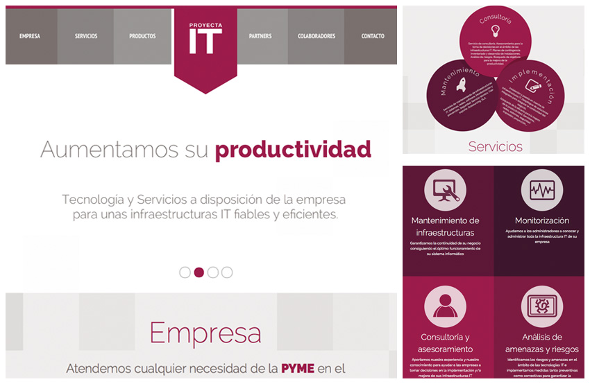 Desarrollo Web. Proyecta IT. Calle Mayor Comunicación y Publicidad