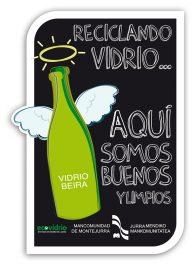 Realización de pegatinas para la campaña de reciclaje de vidrio para la Mancomunidad de Montejurra