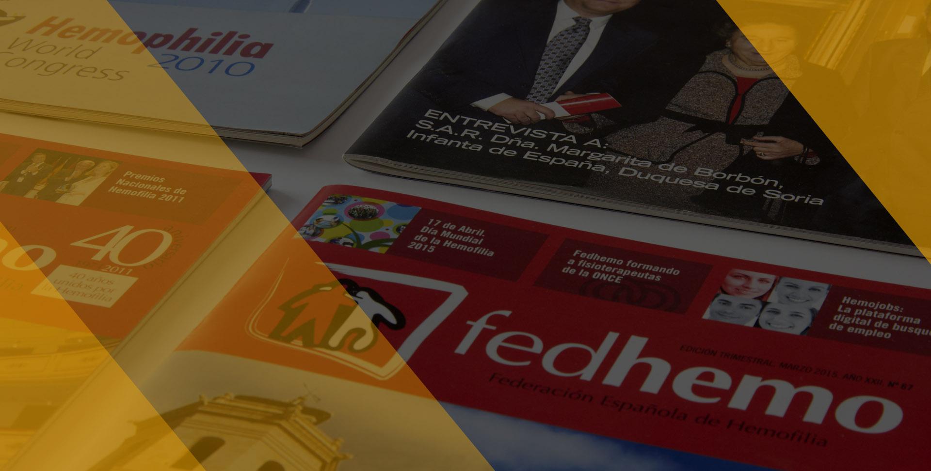 Federación Española de Hemofilia - revista Fedhemo - Calle Mayor Comunicación y Publicidad