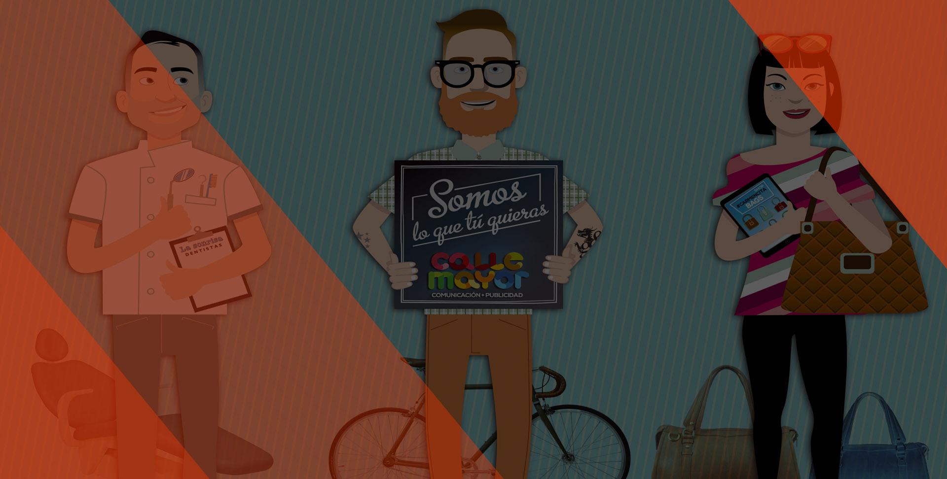 Ilustración Somos lo que quieras - Calle Mayor Comunicación y Publicidad