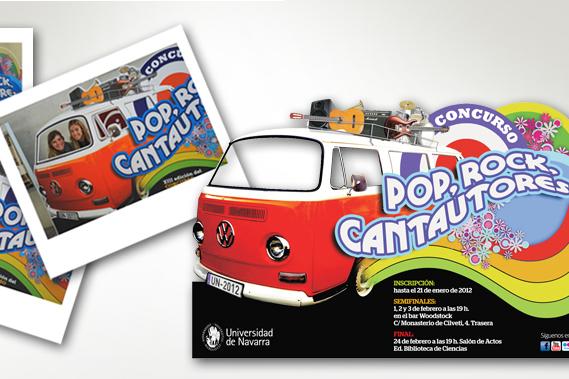 Universidad de Navarra - furgoneta cantautores - Calle Mayor Comunicación y Publicidad