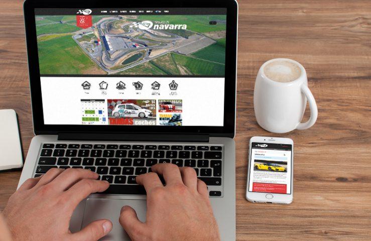 Circuito de Navarra. Desarrollo Web. Calle Mayor Comunicación y Publicidad