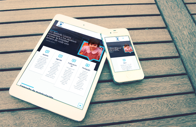 Lizarra Ikastola. Diseño y desarrollo Web. Calle Mayor Comunicación y Publicidad