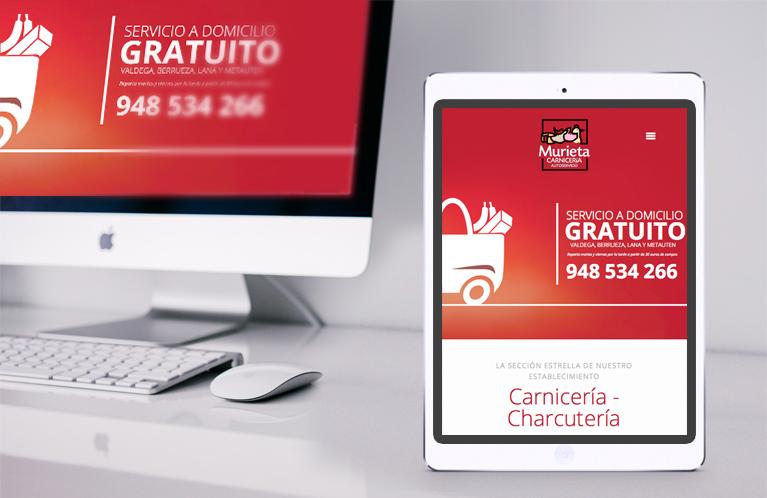 Página web Autoservicio Murieta. Calle Mayor Comunicación y Publicidad
