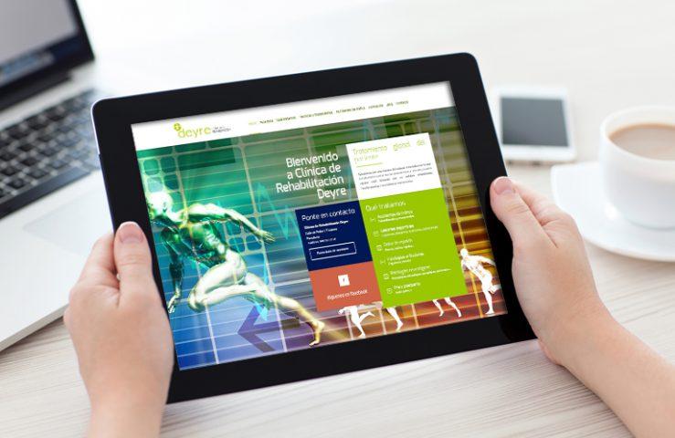 Página web clínica de rehabilitación Deyre. Calle mayor Comunicación y Publicidad.