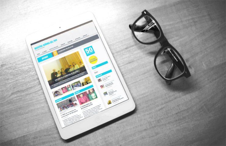 diseño y desarrollo página web Colegio El Puy de Estella. Calle Mayor Comunicación y Publicidad