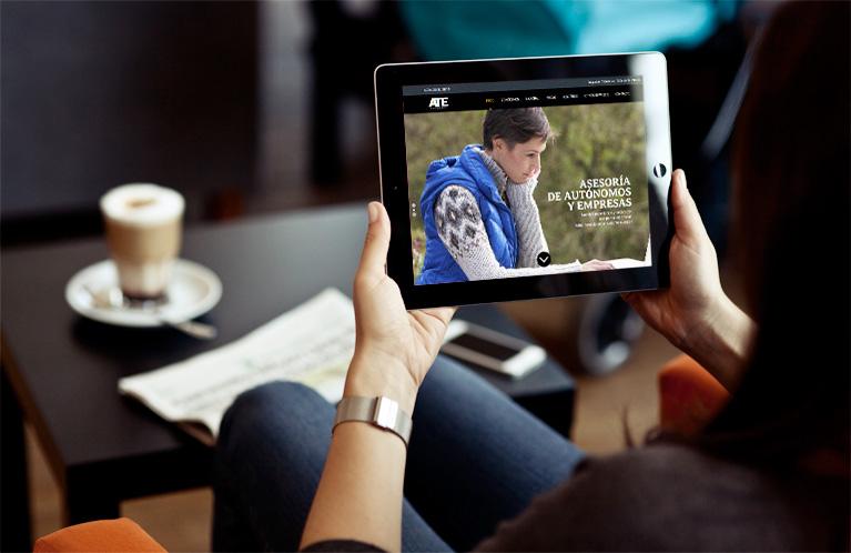 Página Web Ate Asesores. Calle Mayor Comunicación y Publicidad