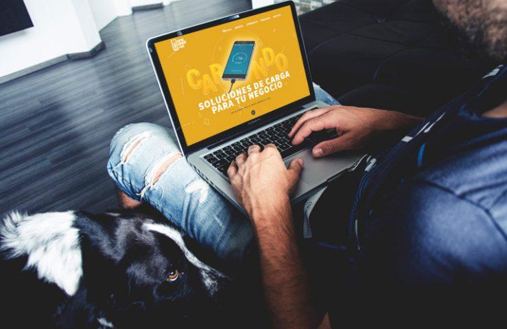 Página Web Carga el Móvil. Calle Mayor Comunicación y Publicidad