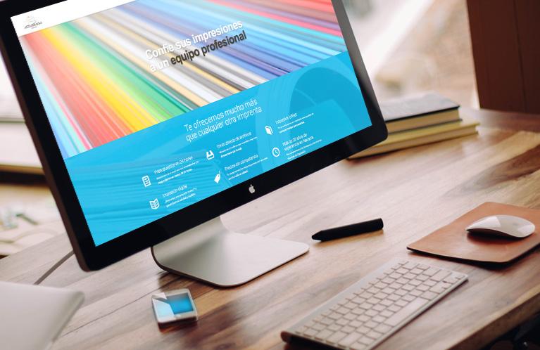 Página Web corporativa Gráficas Astarriaga. Calle Mayor Comunicación y Publicidad