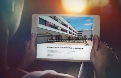 Viviendas en Ayegui. Desarrollo web. Calle Mayor Comunicación y publicidad