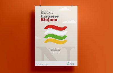 Campaña Día de La Rioja, cartel. Gobierno de La Rioja